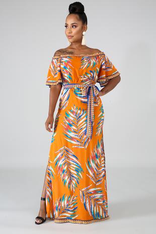 Aztec Palm Dress