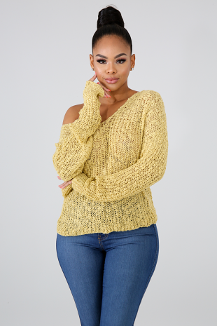 Twist Sweater Top