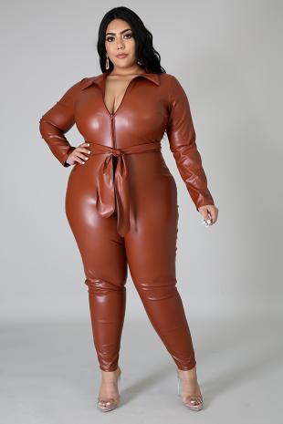 Leatherette Jumpsuit