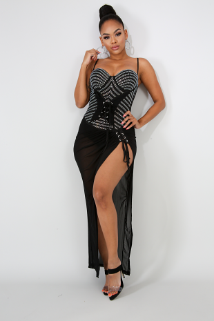 Rhinestone Glam Bodysuit