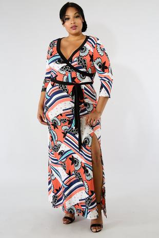 Poppurri Maxi Slit Dress