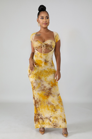 Tie Dye Maxi Dress Set