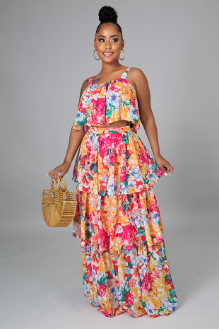 Floral Gardens Skirt Set