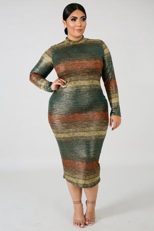 Rustic Shine Maxi Dress
