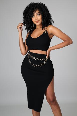 Chain Queen Skirt Set
