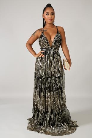 Dazzle Sparks Maxi Dress