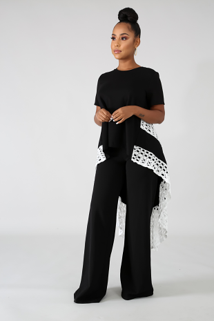 Lace Long Tail Top