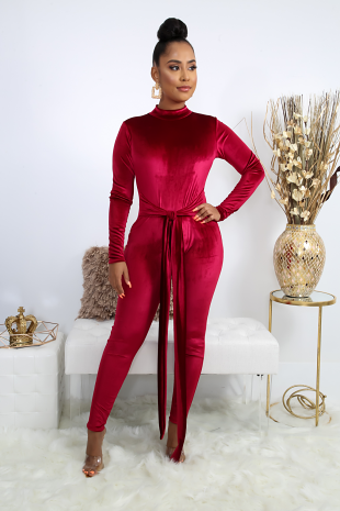Suede Shine Jumpsuit