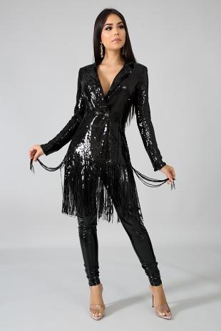 Blazer Sequin Dress
