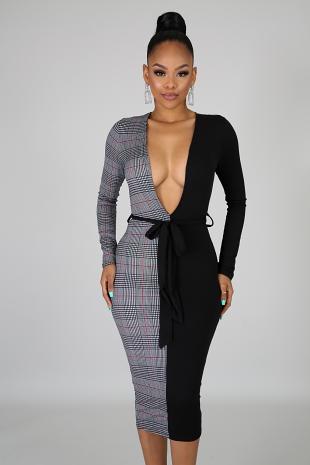 Undecided Plaid Dress