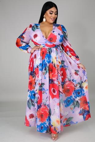 Floral Flow Maxi Dress
