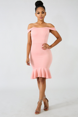 Dainty Flare Body-Con Dress