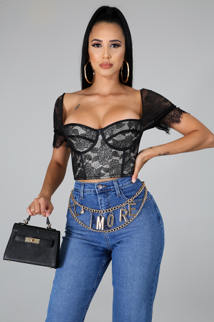 Lace It Up Corset Top