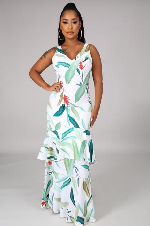 Tropic Leaf Dress
