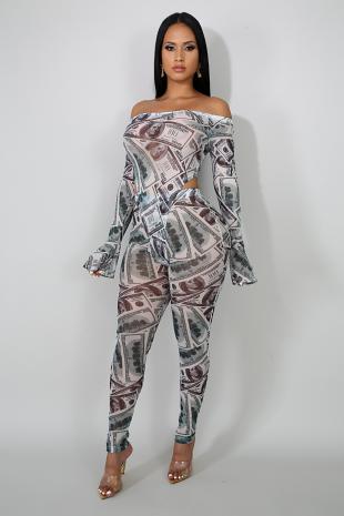 Cash Out Bodysuit Set