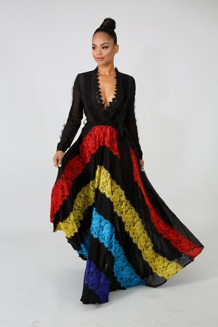 Heritage Lace Maxi Dress