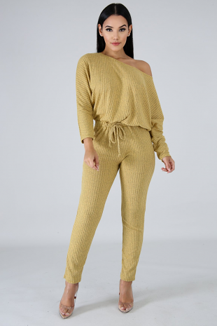 Rib Knit Jumpsuit