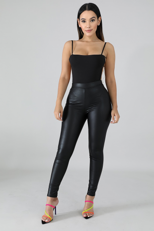 Biker Leatherette Pants