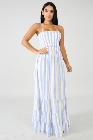 Light Blue Ocean Maxi Dress