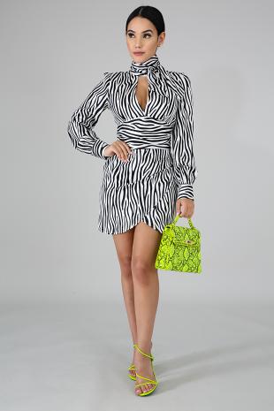 Zebra Choker Dress