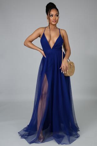 Maxi Sheer Mesh Dress