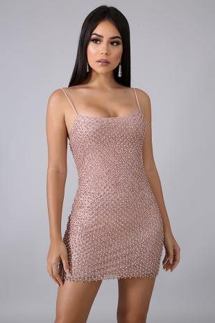 Pearl Glitter Mini Dress