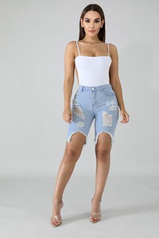 Edgy Denim Shorts