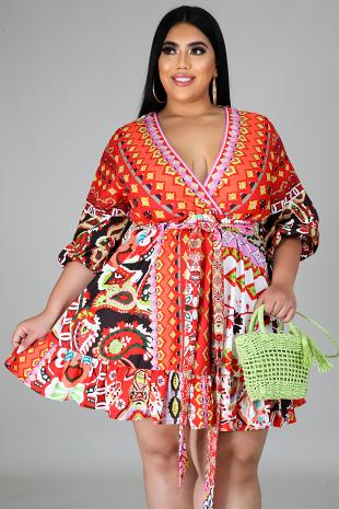 Pattern Of Greatness Dress
