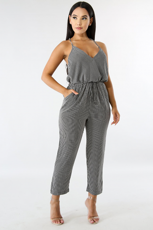Lounge Stripe Jumpsuit