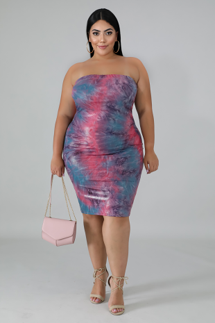 Fire Shine Tube Body-Con Dress