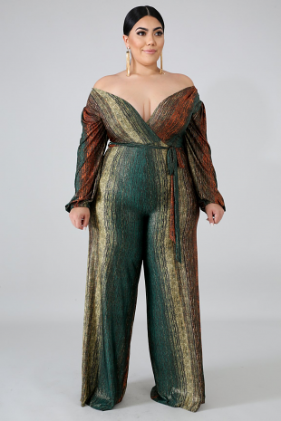 Golden Streaks Jumpsuit