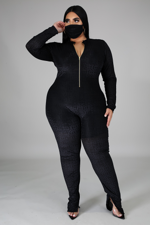 2pc Extra For The Night Jumpsuit Set
