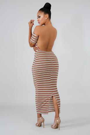 Sensual Back Knit Midi Dress