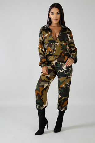 Camouflage Silky Set