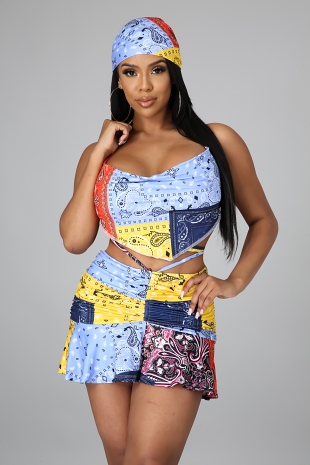 3pc Crushin' Hearts Skirt Set