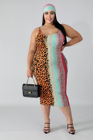Feisty Midi Body-Con Dress
