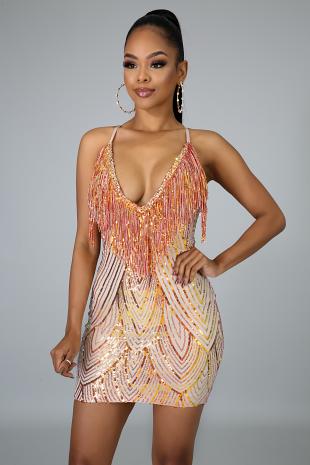 Dazzle Fringe Dress