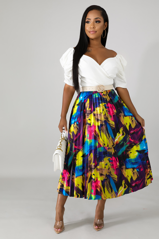 Picasso Pleated Skirt