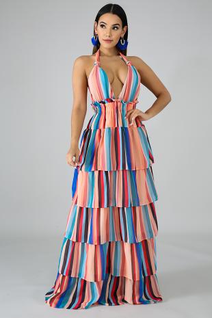 Ethereal Chiffon Maxi Dress