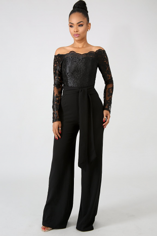 Elegant Embroidered Jumpsuit