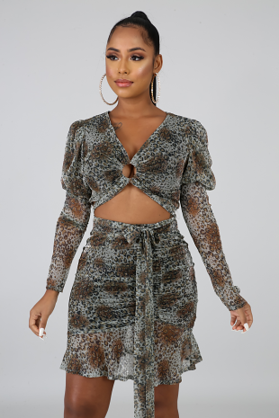Shimmer Spots Skirt Set