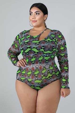 Slash Sheer Bodysuit