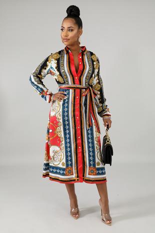 Sophia Glam Flare Dress