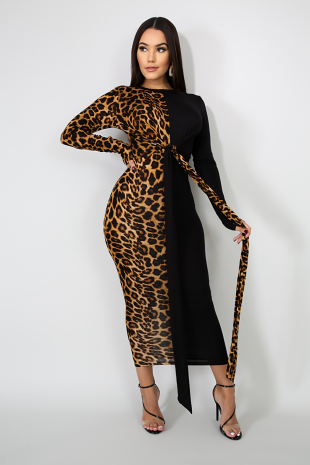 Boss Cat Midi Dress