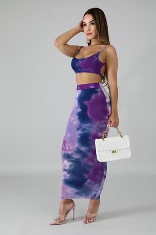 Feisty Tie Dye Skirt Set