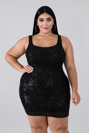 Sequin Prime Body-Con Dress