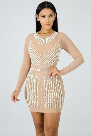 Pearl Sensation Body-Con Dress