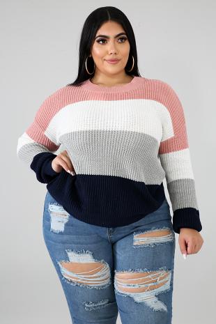 Knit Block Sweater