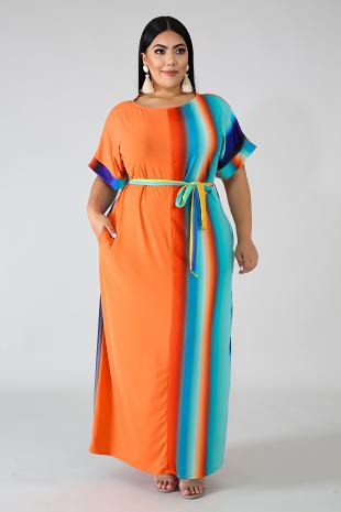 Aqua Spring Maxi Dress