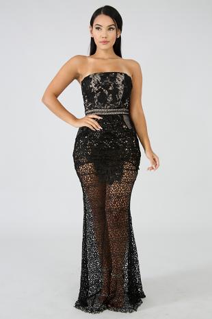 Crochet Gala Mermaid Dress